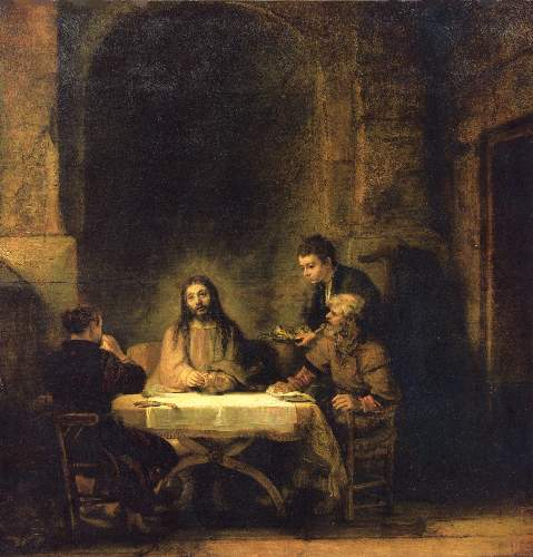Christ in Emmaus 2 by Rembrandt