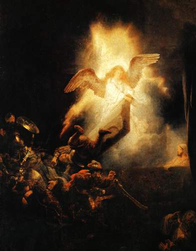 Christ resurrection by Rembrandt