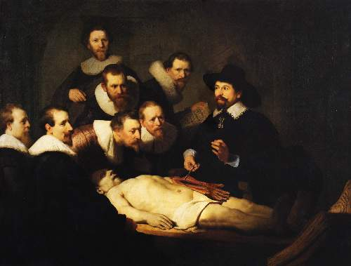 Doctor demonstrates arm anatomy by Rembrandt