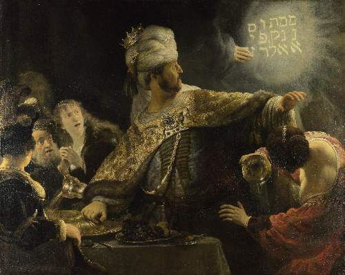 Feast of Balshazar by Rembrandt