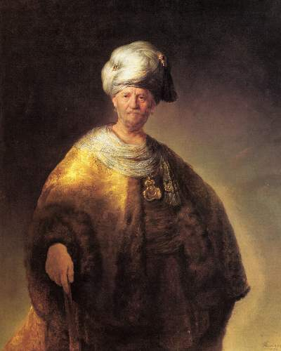Man in oriental costume by Rembrandt