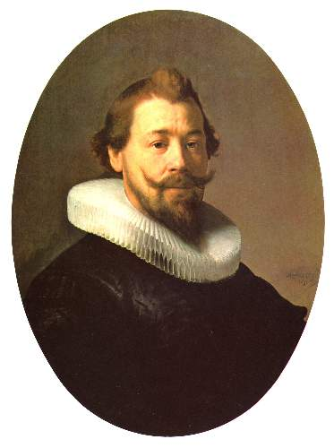 Man with a beard by Rembrandt
