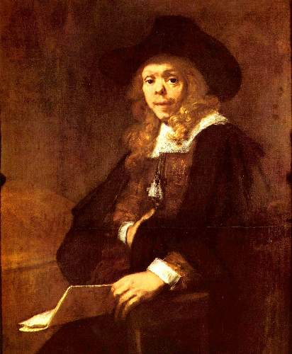 Portrait of Gerard de Lairesse by Rembrandt