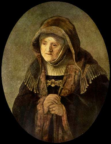 Portrait of Rembrandts mother 2 by Rembrandt