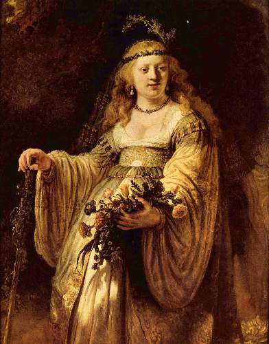 Portrait of Saskia as Flora by Rembrandt