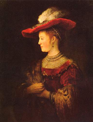 Portrait of Saskia as a young woman by Rembrandt