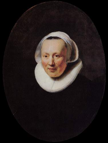 Portrait of a woman 5 by Rembrandt