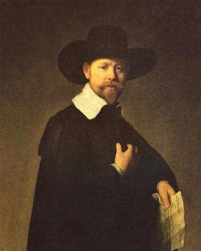 Portrait of buyer Martin Looten by Rembrandt