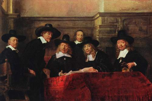 Portrait of the Staalmeisters by Rembrandt