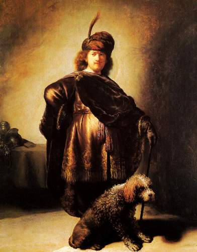 Self-portrait with oriental costume by Rembrandt