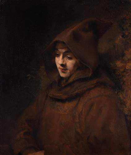 Titus as a young monk by Rembrandt