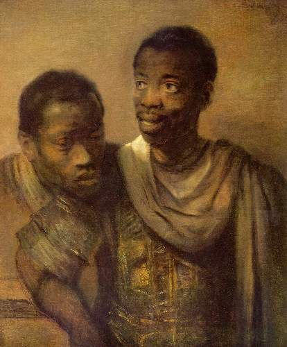Two young Africans by Rembrandt