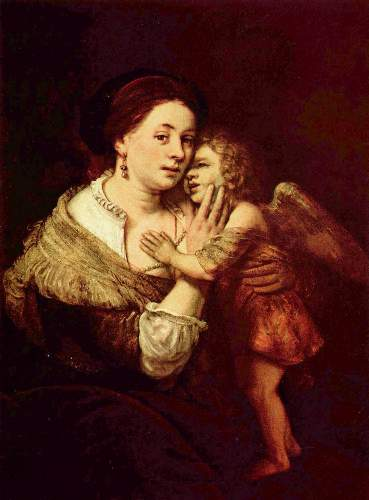 Venus and Amor by Rembrandt
