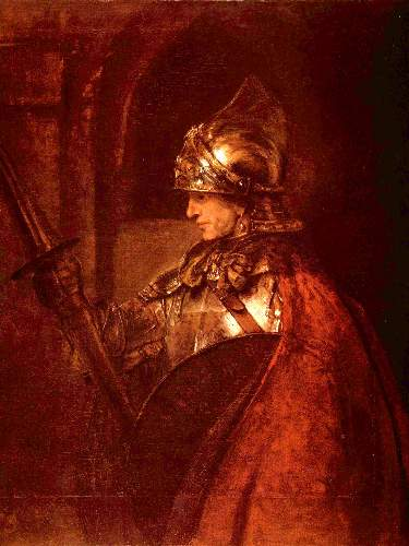Warrior by Rembrandt