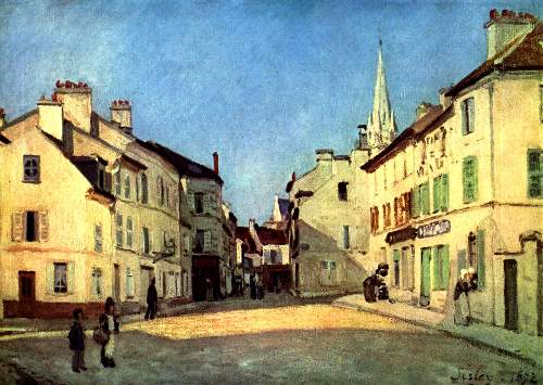 A place in Argenteuil by Sisley