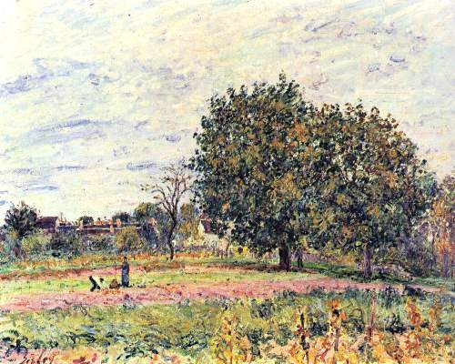 A worker in the field by Sisley