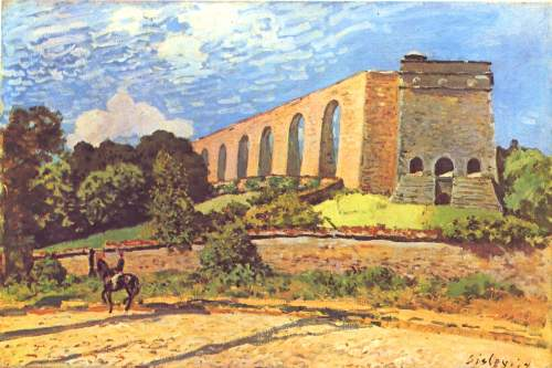 Aqueduct in port Marly by Sisley