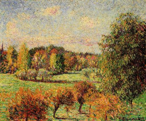 Autumn in Eragny by Pissarro