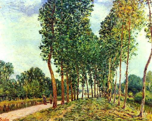 Bank of Loing at Moret by Sisley