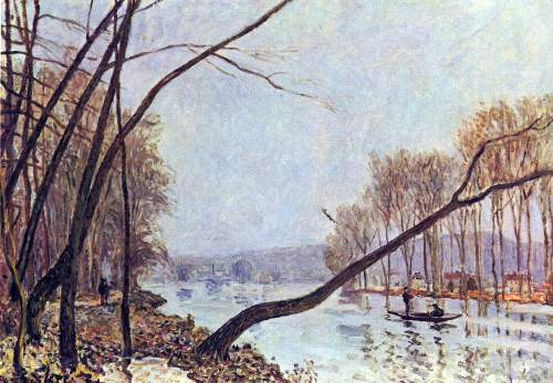 Bank of the Seine in autumn by Sisley