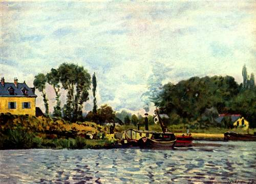 Boats at Bougival by Sisley