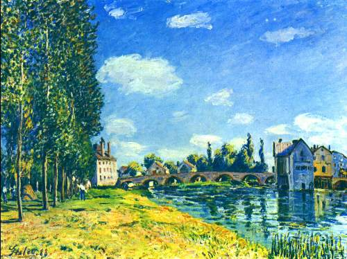 Bridge of Moret in summer by Sisley