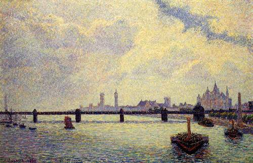 Charing Cross Bridge, London by Pissarro