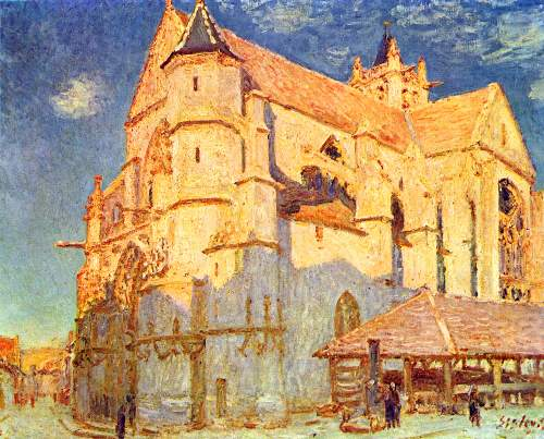 Church in Moret by Sisley