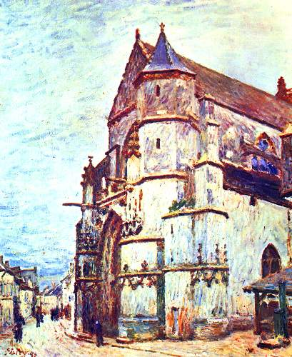 Church in Moret, after the rain by Sisley