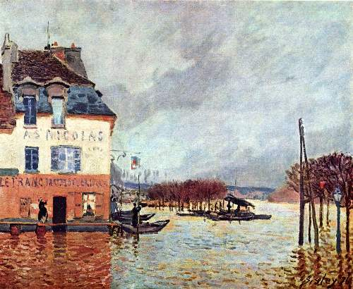 Flood at Port Marly 2 by Sisley