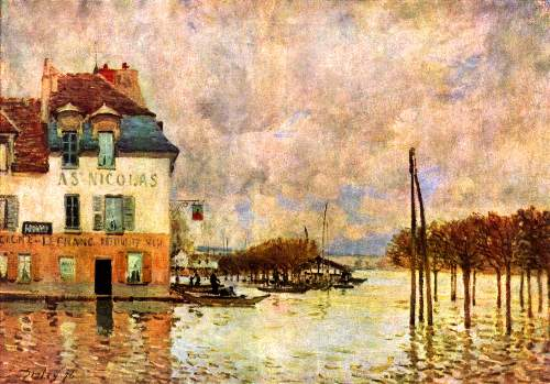 Flood at Port Marly by Sisley