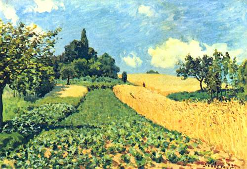 Grain fields on the hills of Argenteuil by Sisley