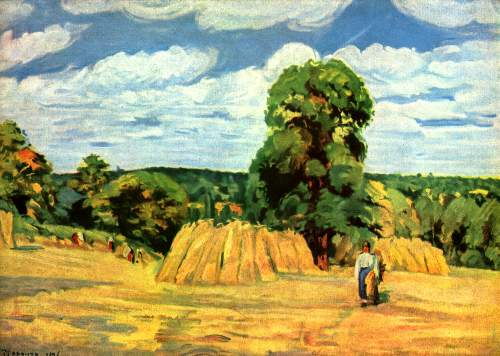 Harvest by Pissarro