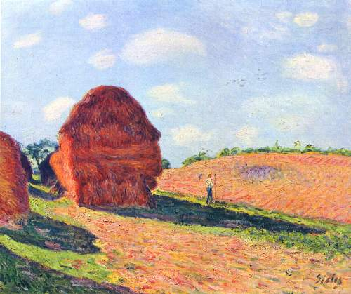 Hay Stacks by Sisley