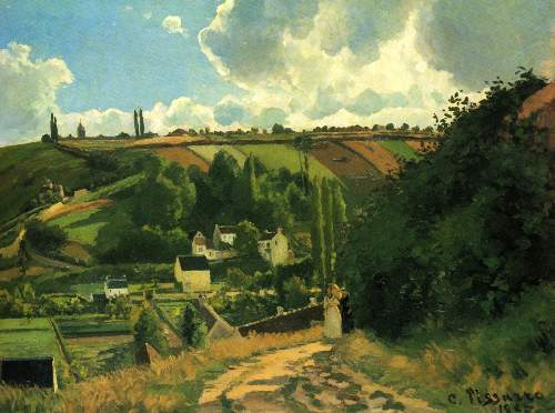 Hill near Jallais by Pissarro