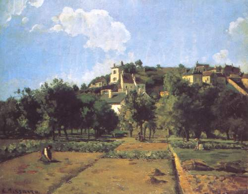 L Hermitage at Pontoise 2 by Pissarro