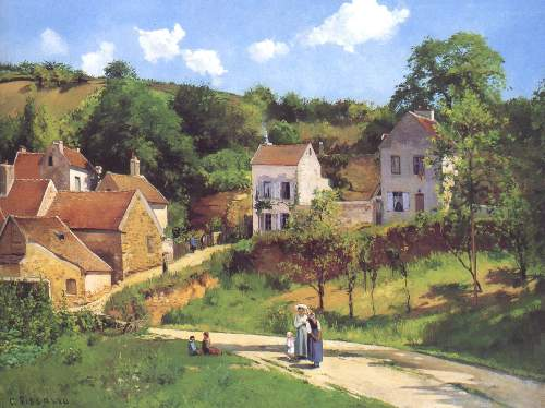 L Hermitage at Pontoise by Pissarro