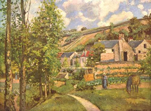 Landscape in Pontoise by Pissarro