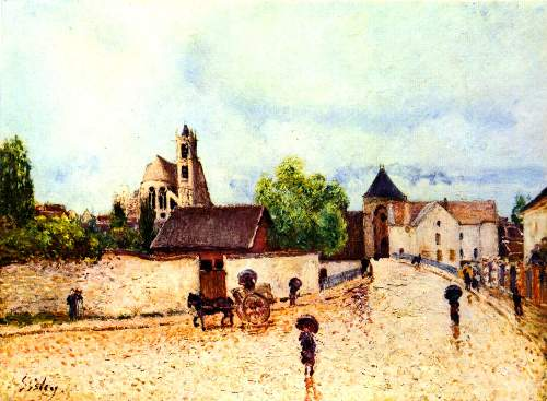 Moret in the rain by Sisley