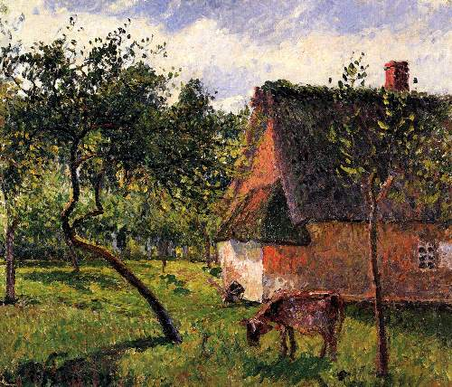 Orchard in Varengeville by Pissarro