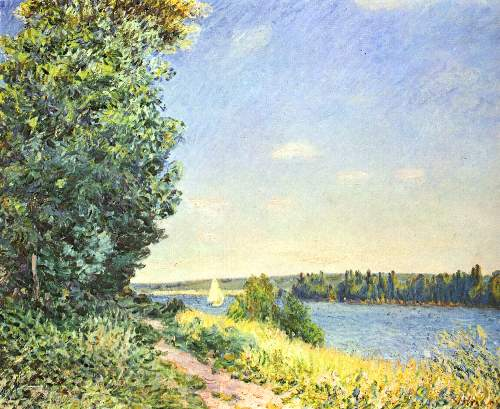 Path by the bay by Sisley