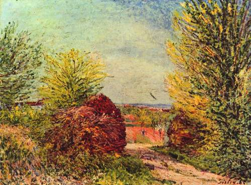 Path in Veneux Nadon in spring by Sisley