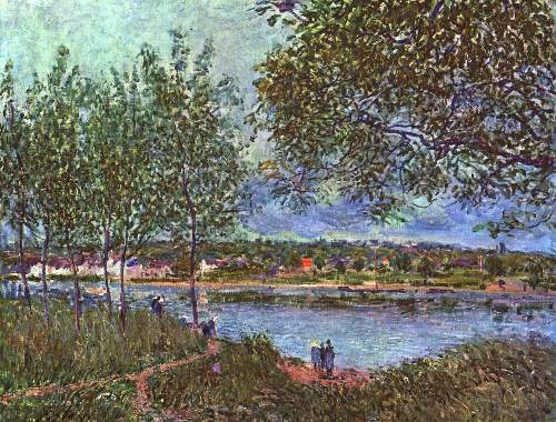 Path of the old ferry by Sisley