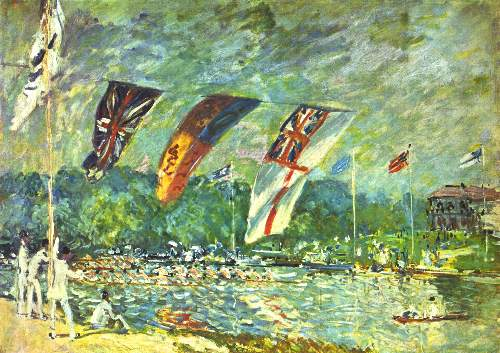 Regatta in Molesey by Sisley