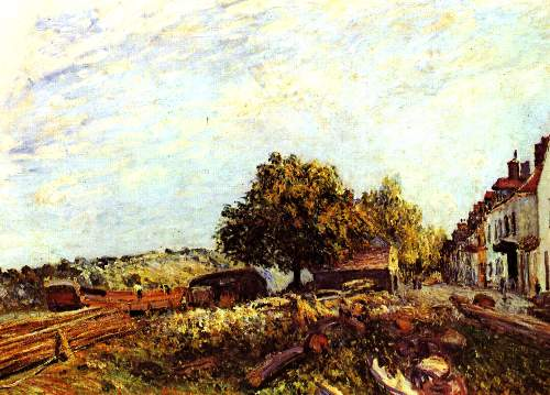 Saint Mammes in the morning by Sisley