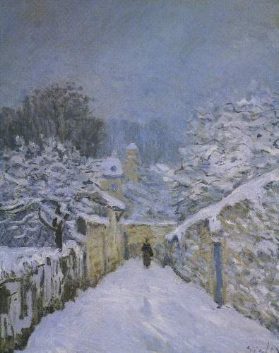 Snow in Louveciennes by Sisley