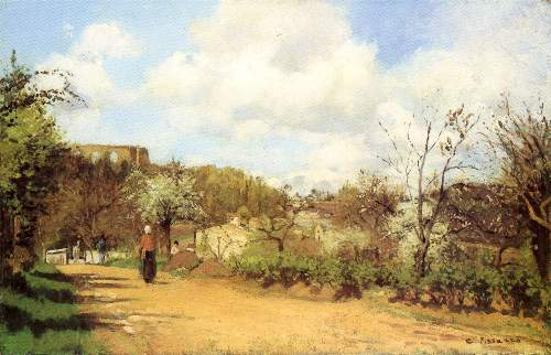 Springtime at Louveciennes by Pissarro