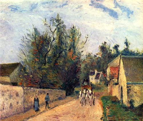 Stagecoach to Ennery by Pissarro