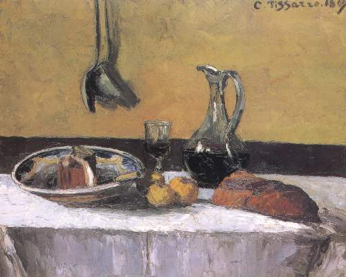 Still life by Pissarro