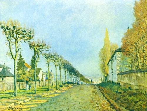 Street in Louveciennes by Sisley